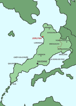 Red region towards the East of the country is the Semi-Autonomous region of Aléssandria